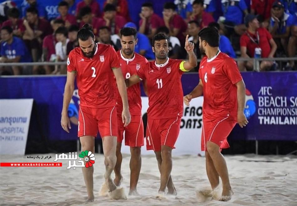 اعلام برنامه بازیهای تیم ملی فوتبال ساحلی در جام بین قارهای