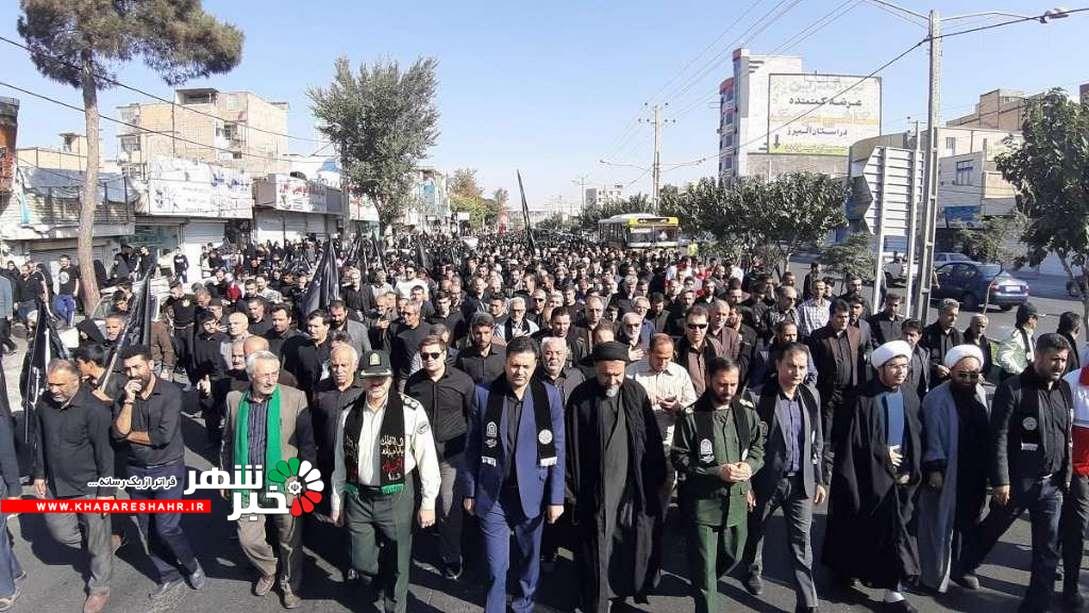 پیاده روی جاماندگان حسینی در شهرستان ملارد