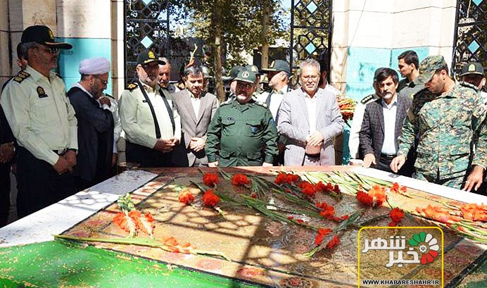 گلباران مزار شهدا و ویژه برنامه هفته نیروی انتظامی در شهریار + تصاویر