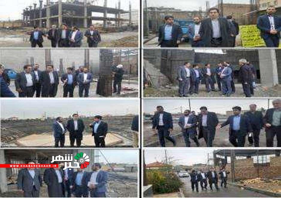 سرپرست فرمانداری ملارد از پروژه های در دست اقدام شهرداری ملارد بازدید نمودند