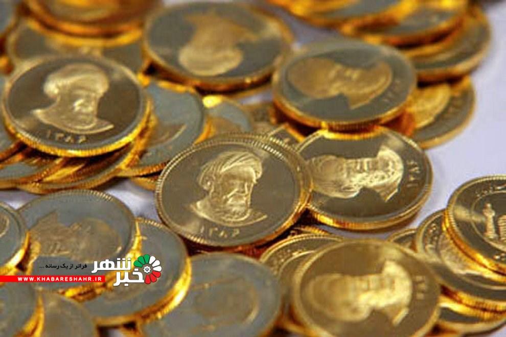 قیمت سکه طرح جدید ۱۶ آذرماه به ۴ میلیون و ۶۱۵ تومان رسید