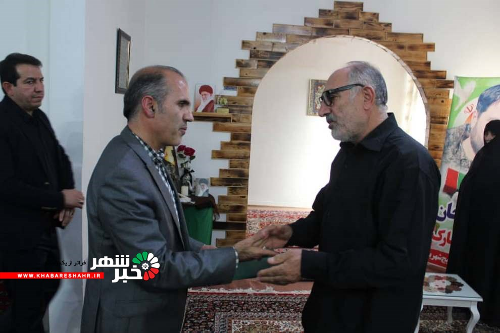 دلجویی ریس دادگستری شهریار از خانواده شهید ابراهیمی