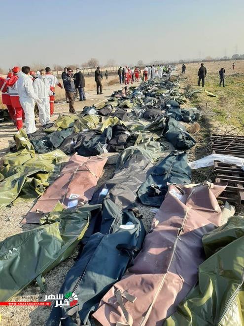 تصاویری از سقوط هواپیمای اکراینی در صباشهر رباط کریم تهران+عکس