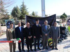 سفیران سوئد، اوکراین، افغانستان و ایتالیا در محل سقوط هواپیمای اوکراینی در شاهد شهر شهریار جهت ادای احترام +عکس
