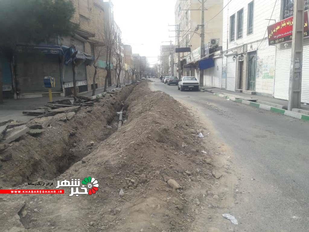 وضعیت خیابان ۱۲ متری و ورودی کهنز شهریار به روایت تصویر