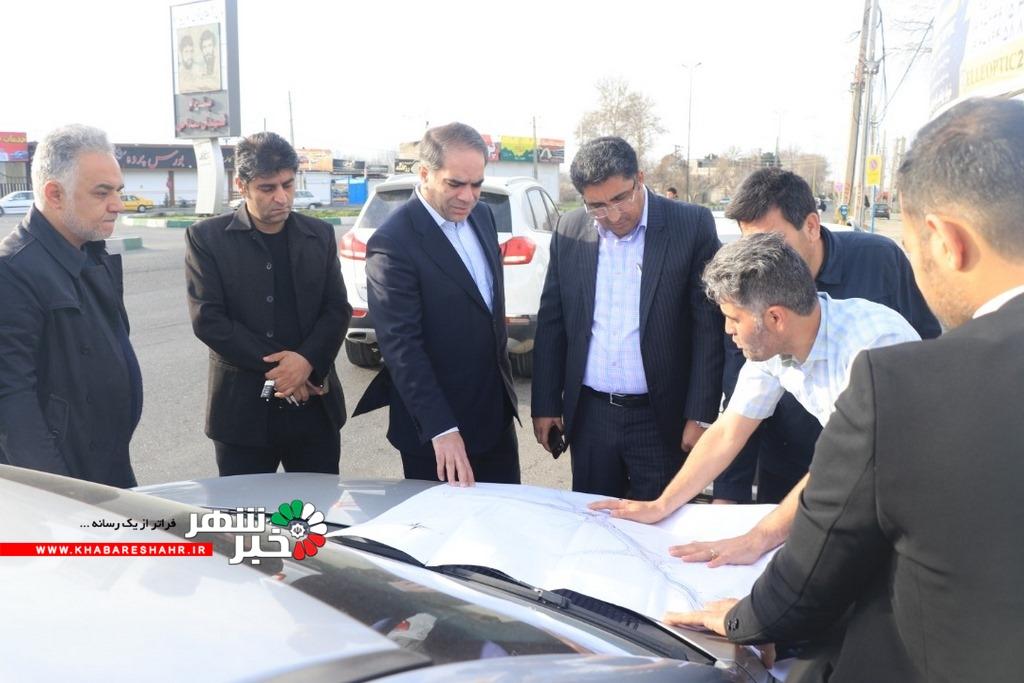 مدیرکل دفترفنی، امور عمرانی و حمل و نقل و ترافیک استانداری تهران از پروژه های عمرانی شهرداری شهریار بازدید کرد