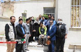 دیدار وعیادت رئیس اداره فرهنگ وارشاداسلامی وهئیت همراه ازخبرنگار فعال شهرستان شهریار
