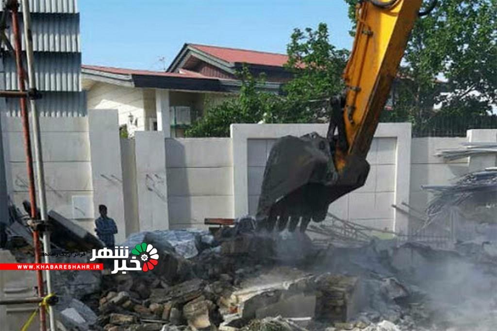 تخریب ۱۰۰ ویلای لوکس غیرمجاز با ورود دادستانی در شهریار