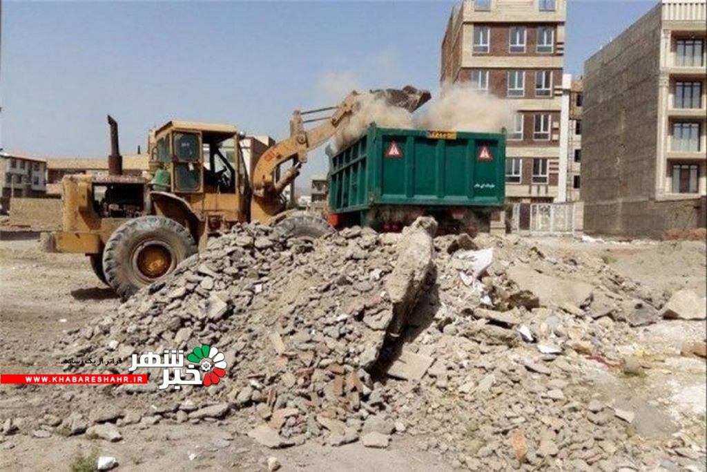 جمع آوری ۲۰۰ تن پسماند عمرانی و نخاله در غرب استان تهران