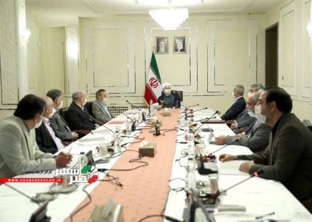 جلسه روسای کمیتههای ستاد مقابله با کرونا با حضور روحانی برگزار شد