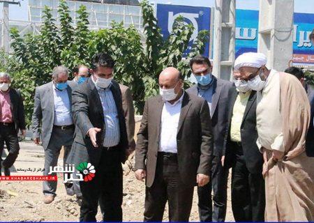 فرماندار شهرستان شهریار از پروژه های عمرانی شهر باغستان بازدید کرد
