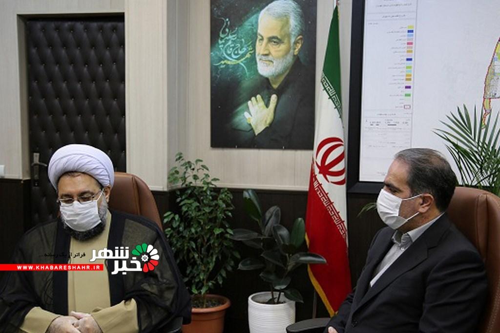 دیدار امام جمعه شهریار با شهردار شهریار