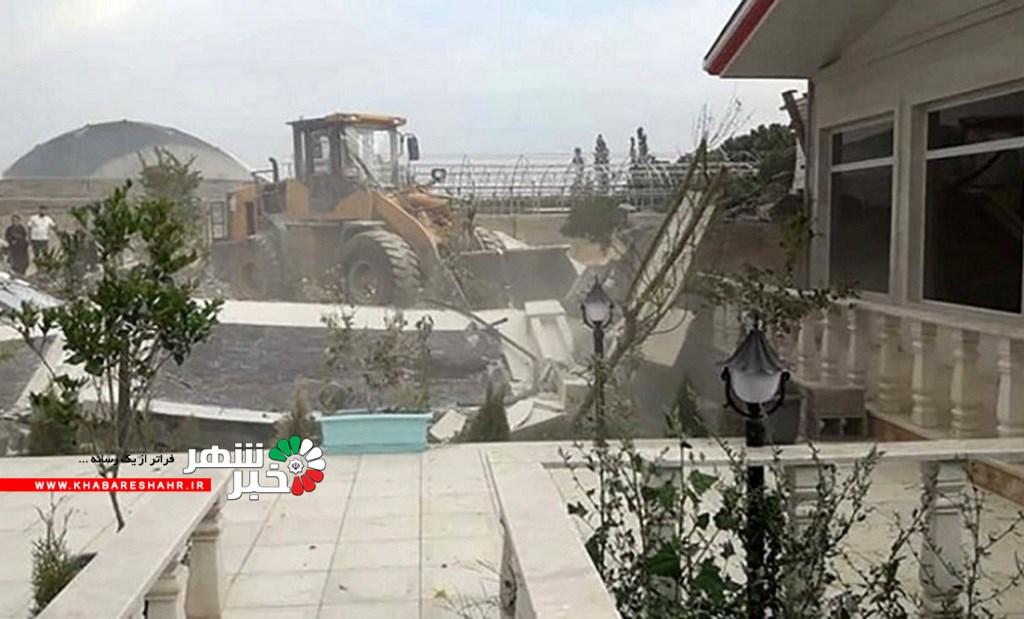 ویلای لاکچری یکی از شهرداران شهریار با خاک یکسان شد! + عکس