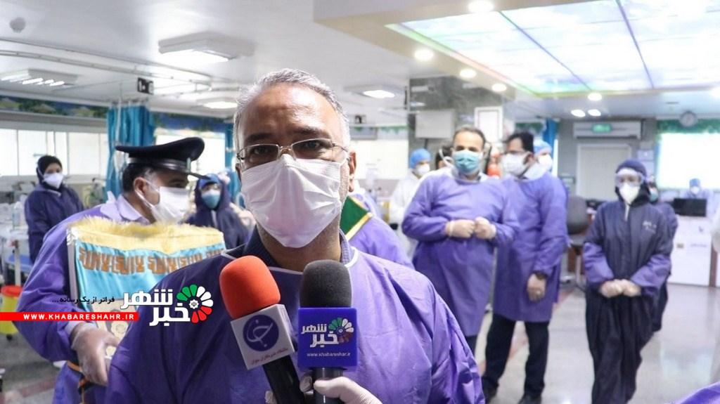 وقتی در جبهه مبارزه با کرونا عمود ۲۰۲ به کمک بیمارستان بقیه الله تهران رفت