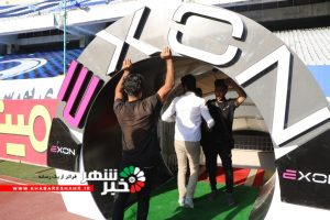 رونمایی از تونل ضدعفونی زمین چمن فوتبال ورزشگاه آزادی