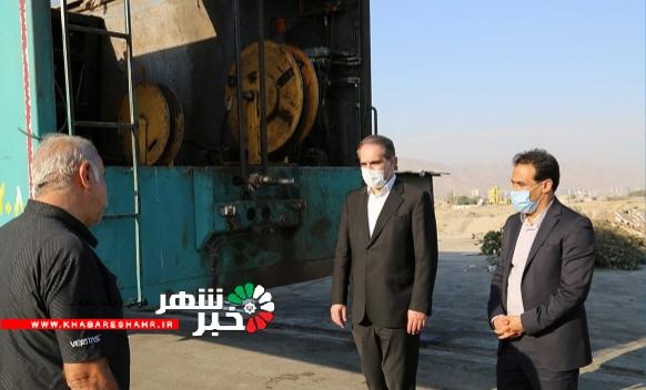بازدید شهردار شهریار از سکوی حمل زباله شهرداری شهریار