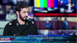 گفتگوی فرمانده سپاه ناحیه شهرستان قدس سرگرد حبیبی