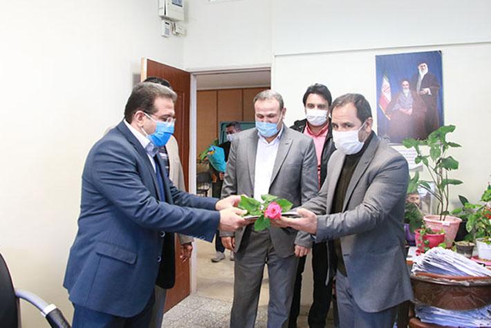 دیدار بخشدار مرکزی شهریار با رئیس اداره ثبت احوال شهریار