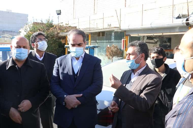 گفتگوی صمیمی فرماندار و شهردار شهریار با کسبه تقاطع میدان جهاد شهریار