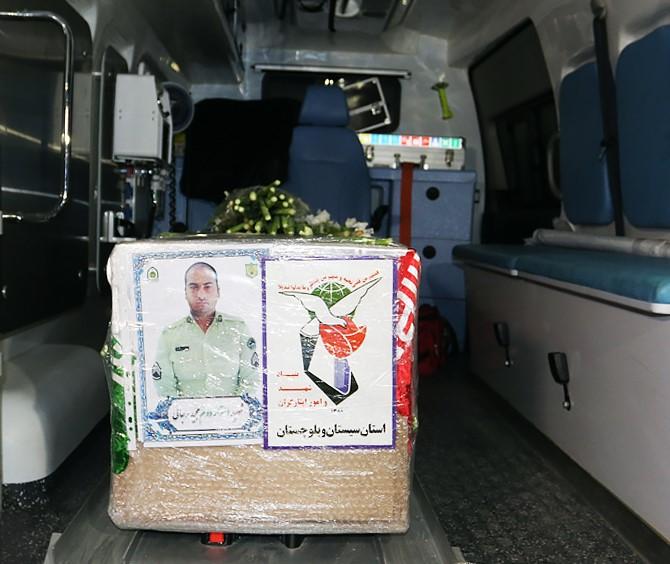 مراسم استقبال از پیکر شهید نیروی انتظامی در مشهد