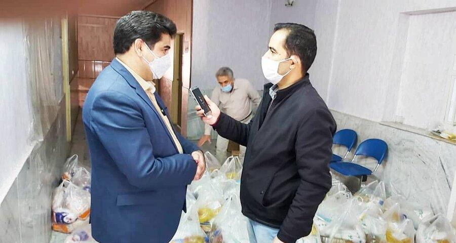 شهریار | ۱۰۰ بسته معیشتی بین نیازمندان توزیع شد