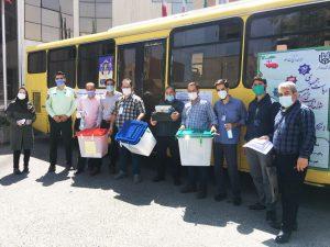 اعزام صندوق و اخذ رای در فضای باز برای بیماران کرونایی شهرستان شهریار