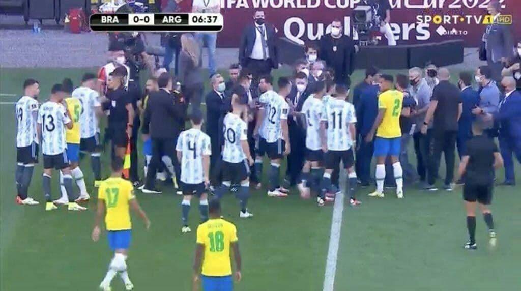 دیدار برزیل – آرژانتین نیمه تمام ماند