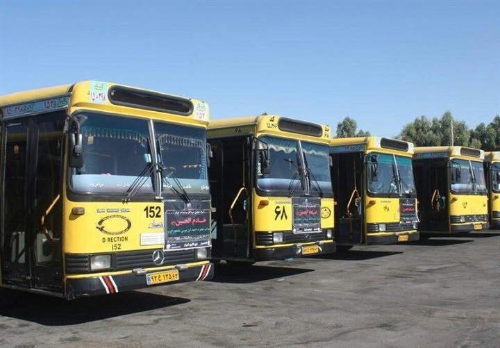 استقرار ۵۶۰ اتوبوس در اطراف حرم حضرت عبدالعظیم در روز اربعین