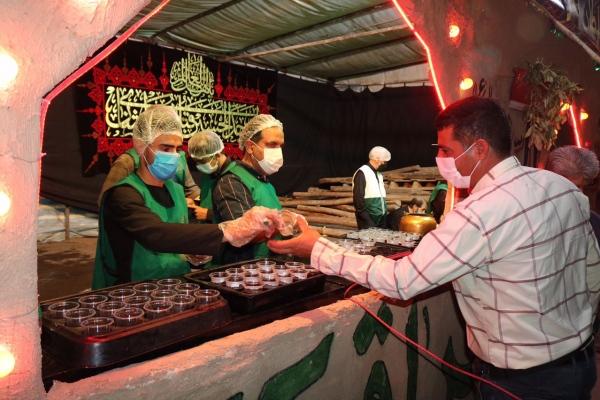 برپایی موکب اربعینی توسط خادمیاران منطقه ١٤ تهران