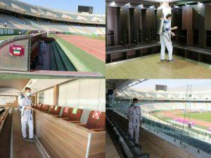ورزشگاه آزادی برای دیدار ایران و کره جنوبی ضدعفونی شد